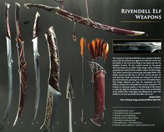 """Richard Taylor (Weta Workshop Design and Special Effects Supervisor): """"Elrond once again drew forth his sword, seen previously in The Lord of the Rings in his hands and also his daughter Arwen's."""" Tim Abbot (Saddle Maker): """"I might finish something..."""