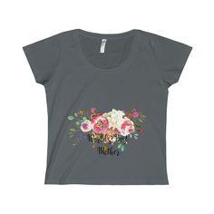 World's Best Mother Ladies Fine Jersey Scoop Neck T-Shirt, Best Mom T-shirt