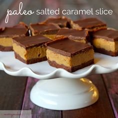 Make this Paleo Salted Choc Caramel Slice and go to paleo sweet treat heaven! Serisiouly THE BEST paleo dessert in the whole world!