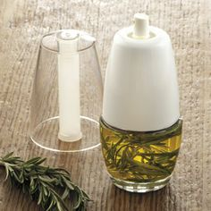 Tabletop Oil Mister. Lots of great uses for this oil mister. Dispenses fresh flavor of herbs, garlic and spices with olive oil. If you use oil in the kitchen or at the table you need it. $20