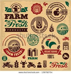 Find Farm Fresh Labels Organic Farming Isolated stock images in HD and millions of other royalty-free stock photos, illustrations and vectors in the Shutterstock collection. Thousands of new, high-quality pictures added every day. Royalty Free Images, Royalty Free Stock Photos, Farm Logo, Farm Signs, Organic Farming, Free Vector Art, Vector Icons, Farmer, Logo Design