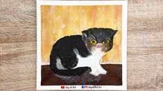 How to Paint Cat   Easy Acrylic Painting Technique   Joy of Art #178 Simple Acrylic Paintings, Acrylic Painting Techniques, Beginner Art, Superhero Logos, Painting & Drawing, Tube, Joy, Canvas, Drawings