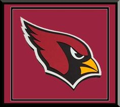 Arizona Cardinals 3D Foam Logo Framed Awesome Beautiful In A Shadow Box With Team Color Double Matting Must For Championship Fan
