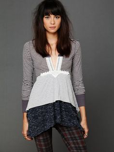 Free People Layered Stripes Long Sleeve Top at Free People Clothing Boutique