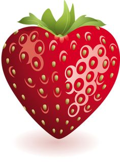Heart Strawberry Clipart