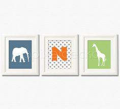 Baby Boy  Nursery Art Print Set  Set of three 8x10  by pixelgecko, $44.70