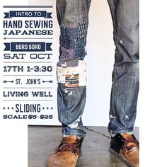 Join us this #Saturday in St. John's for an afternoon of patching our denim with Japanese Boro Boro. Learn #HandSewing techniques. Sliding scale $5-$25  We'll be enjoying & #BusyHands #KlumHouse