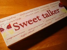 SWEET TALKER Cupcake Bakery Cafe Coffee Shop Kitchen Cake Baker Decor Sign NEW #OhioWholesale #Novelty