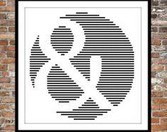 One Color Poppy  cross stitch pattern by WooHooCrossStitch on Etsy