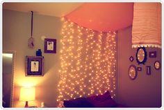 mais luzes de natal no quarto! *_*