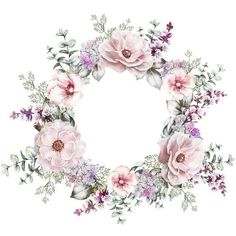 Art Floral, Deco Floral, Motif Floral, Floral Border, Wreath Watercolor, Watercolor Flowers, Watercolor Art, Flower Frame, Flower Crown