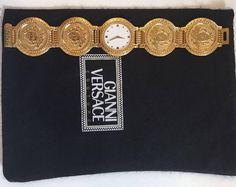 Super duper GIANNI VERSACE watch gold watch plague 24krts RARE Gianni Versace Watch