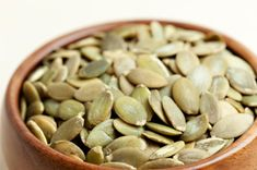 Pumpkin seeds, also known as Pepitas, are a tasty source of B vitamins, iron, magnesium, zinc and protein.