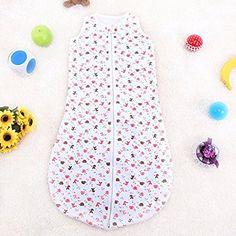 Artempo Sleeping Sack 90cm Length 100% Cotton Anti Kick Elephant Graphics Large for Baby (Pink)