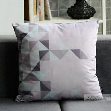 45x45cm Nordic Style Grey Geometric Pattern Modern Pillow Suede Cushion Cover