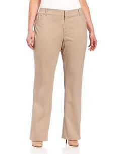 Fashion Bug Womens Plus-Size The Khaki Pant with Hello Smooth