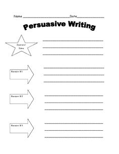 3 graphic organizers for persuasive writing