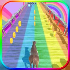 #NEW #iOS #APP Unicorn Rainbow Runner - Yonky Games