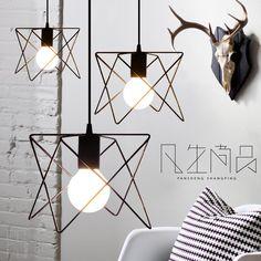 北欧宜家咖啡餐厅简约复古小吊灯吧台loft铁艺个性创意工业风吊灯