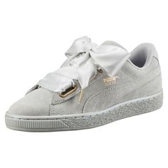 43544c988 Suede Heart Satin Women's Trainers Up Shoes, Casual Shoes, Ribbon Shoes, Puma  Suede
