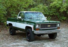 super clean 1974 1975 chevy k10 squarebody c10 4x4 chevrolet restoration restomod muscle truck