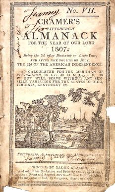 Cramer's Pittsburgh almanack for the year of our Lord 1807... :: Conner Prairie Historical Almanac Collection