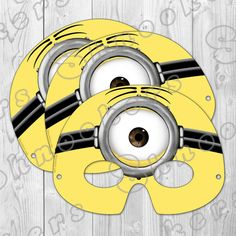 Despicable Me 2 - Inspired Printable Minion Party Mask (Instant Download)-Shop Shnookers via Etsy