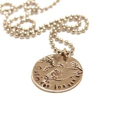 Beautiful, simply elegant charm necklace reads Owl love you forever . It is hand stamped with and owl and braches. Very unique. The charm hangs on a