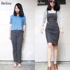 Mulher transforma roupas velhas em peças modernas e estilosas