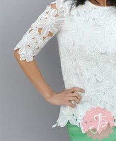 White Lace Short Sleeve Top $19.99- Journey Five