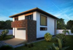 Case moderne cu etaj. Locuinte de vis pana in 200 metri patrati - Case practice Two Story Homes, Second Story, Story House, Garage Doors, Mansions, House Styles, Outdoor Decor, Houses, Design