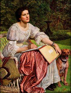 William Holman Hunt (English, 1827-1910) - Miss Gladis M. Holman Hunt