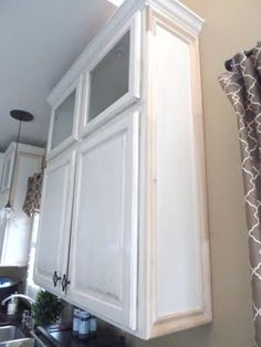 DIY: Add molding to the sides of cabinets