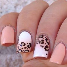 Cute Valentine Nail Art Designs for 2020 - Leopard Print Ideas Leopard Print Nails, Leopard Prints, Animal Prints, Toe Nail Designs, Super Nails, White Nails, Trendy Nails, Spring Nails, Diy Nails