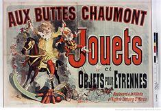 Aux Buttes Chaumont : jouets et objets pour étrennes... : [affiche] / [Jules Chéret]