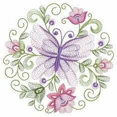 Rippled Butterflies 4 09(Sm) machine embroidery designs