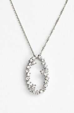 KALAN by Suzanne Kalan 'Starburst' Open Oval Pendant Necklace available at #Nordstrom