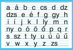 The Hungarian small letter alphabet. The good old days in primary school. Different Alphabets, Family Roots, Small Letters, My Roots, Letter Sounds, Budapest Hungary, My Father, Family History, Genealogy