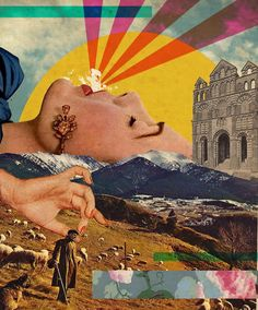'Open communication collage: breathing' collage by Gray Wielebinski
