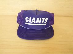 Vintage Purple Snapback Mesh Trucker Hat - Giants