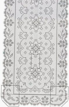 centrino ovale | Hobby lavori femminili - ricamo - uncinetto - maglia Crochet Patterns Filet, Crochet Table Runner Pattern, Crochet Diagram, Doily Patterns, Crochet Cross, Crochet Home, Thread Crochet, Crochet Doilies, Fillet Crochet