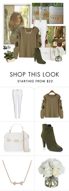 """""""Bat Sleeve Hollow Green T-shirt"""" by euro-filou ❤ liked on Polyvore featuring mode, Burberry, Versace, Elie Tahari, Diane James, CB2, contest et shein"""