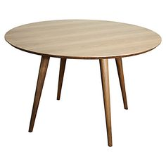 """Clifford 47"""" Round Dining Table, Natural $625.00"""