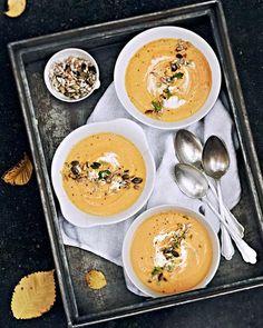 Sweet Paul's Sweet Potato Soup with Pumpkin Seeds & Thyme