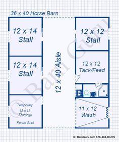 3 Stall Horse Barn - Monitor Style