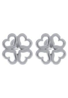 LK Bennett - TUDOR ROSE MONOGRAM - Boucles d'oreilles - argent