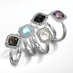 Ippolita rings from the Lollipop Collection in a variety of gemstones.