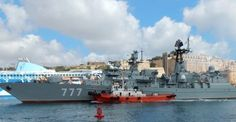 Russian frigate maneuvers to interfere with U.S. carrier operations off Syria