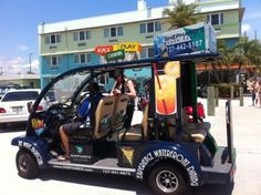 Clearwater Beach, Florida ~ Free rides will take you anywhere around town for the price of a tip.