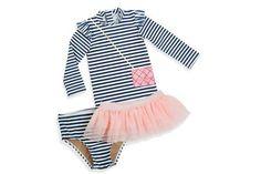 Play Dress Up Swimsuit - 3 pc Set | cute girls swimwear | toddler swimsuit | toddler swim suit